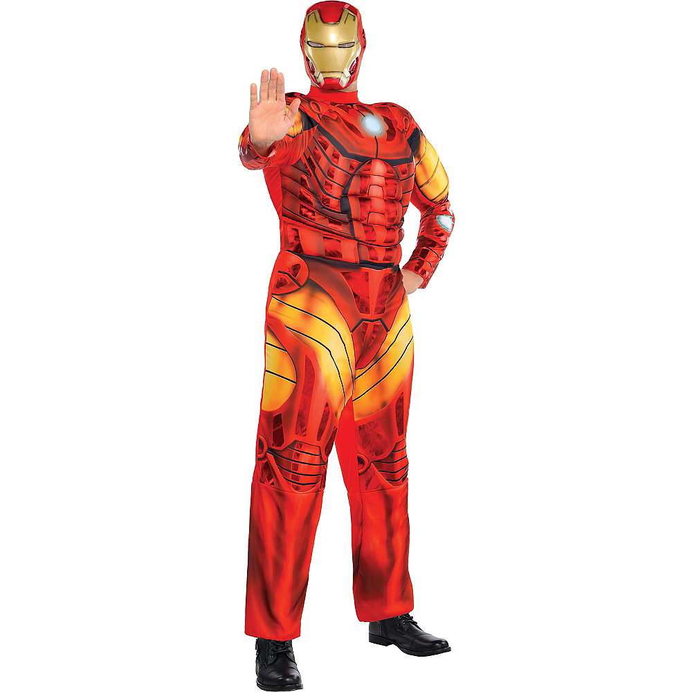 Adult Iron Man Muscle Costume Plus Size Image #1
