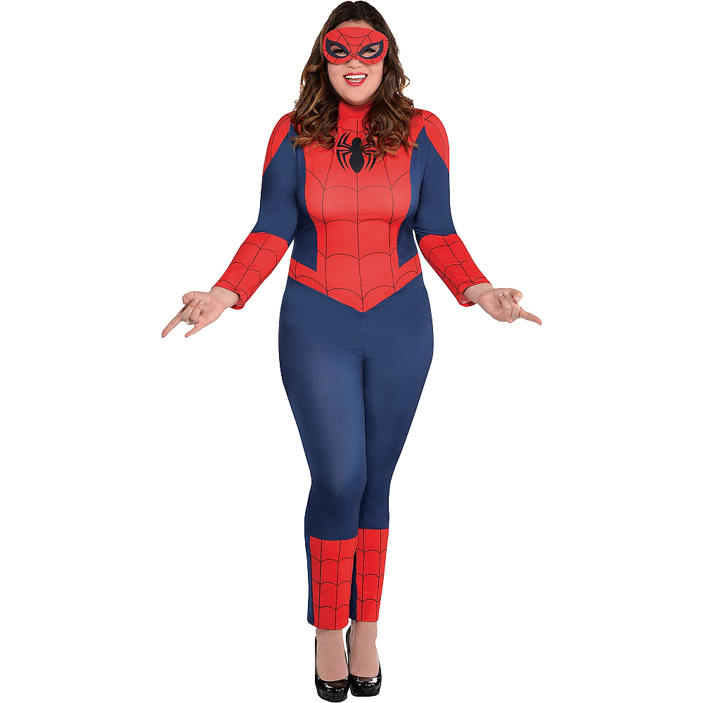 Adult Sexy Spider-Girl Catsuit Costume Plus Size Image #1