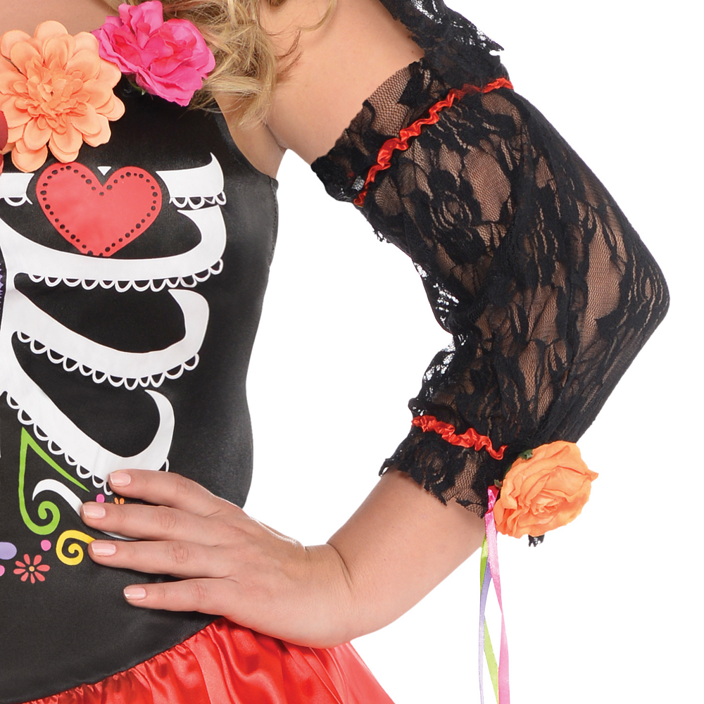 Adult Day of the Dead Senorita Costume Plus Size Image #4