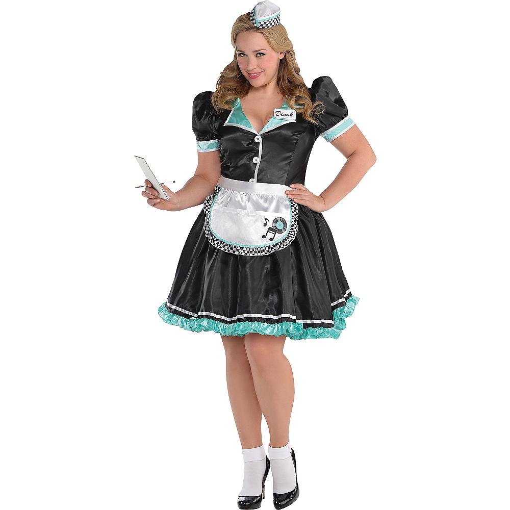 Adult Dinah Delight Waitress Costume Plus Size Image #1