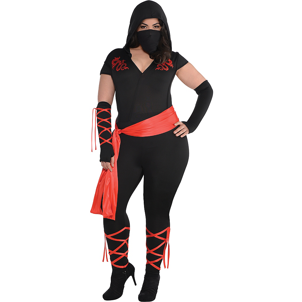 Adult Dragon Fighter Ninja Costume Plus Size Image #1