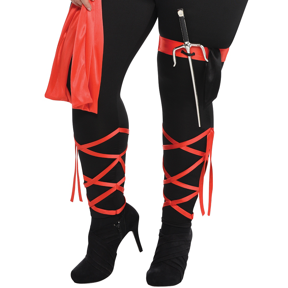 Adult Dragon Fighter Ninja Costume Plus Size Image #5