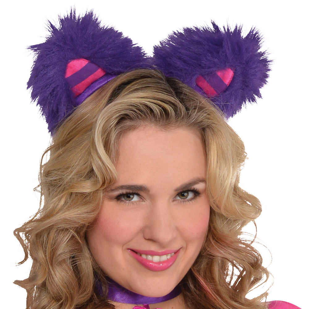 Adult Lady Cheshire Kitty Cat Costume Plus Size Image #2