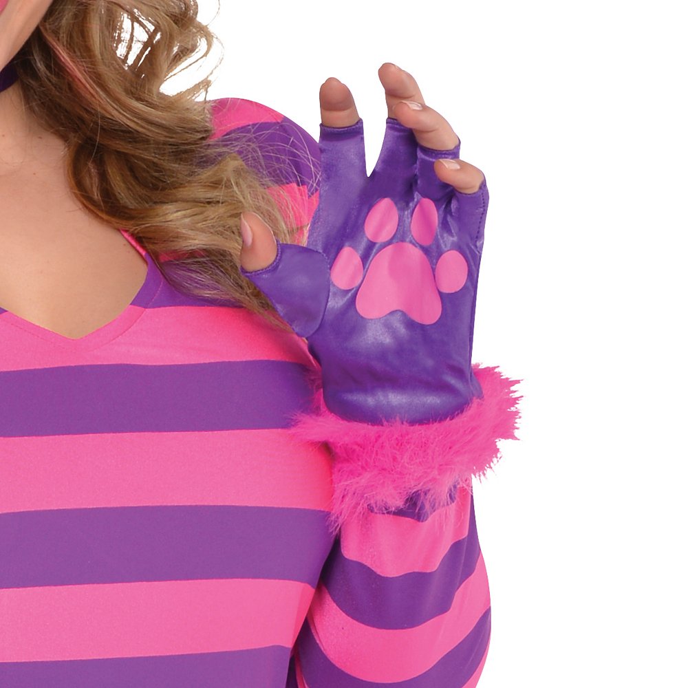 Adult Lady Cheshire Kitty Cat Costume Plus Size Image #4