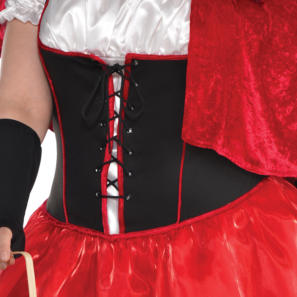 Adult Sassy Red Riding Hood Costume Plus Size Image #3