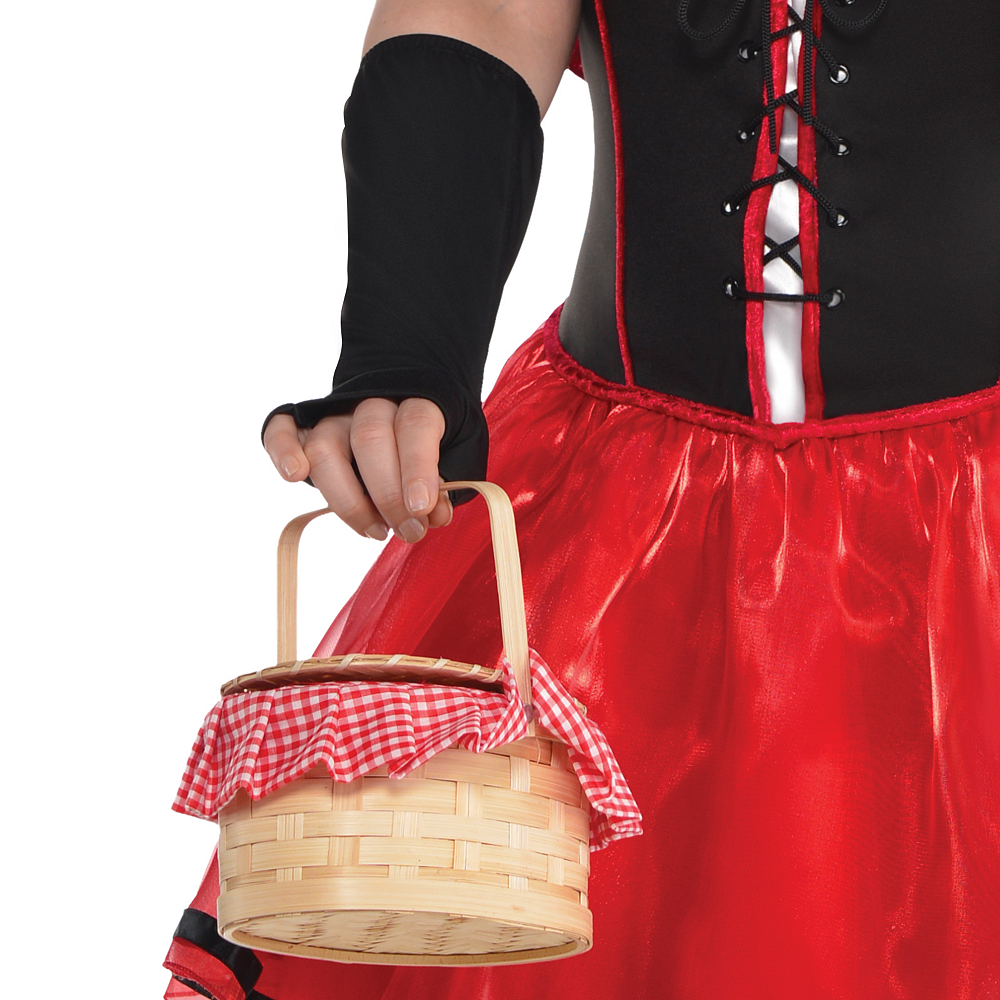 Adult Sassy Red Riding Hood Costume Plus Size Image #4