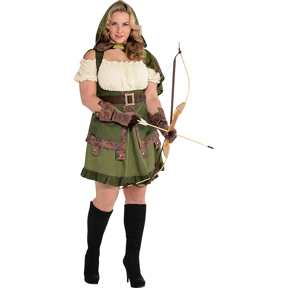 Adult Lady Robin Hood Costume Plus Size Image #1