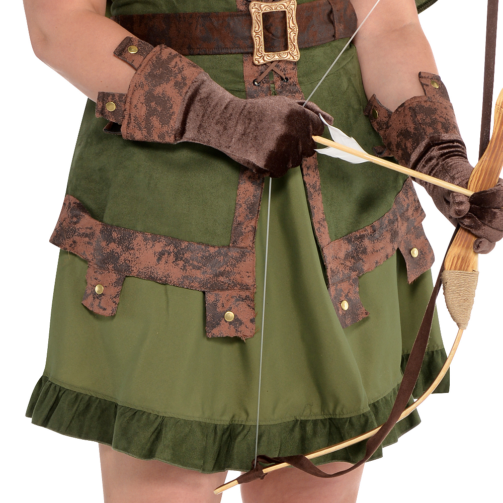 Adult Lady Robin Hood Costume Plus Size Image #4