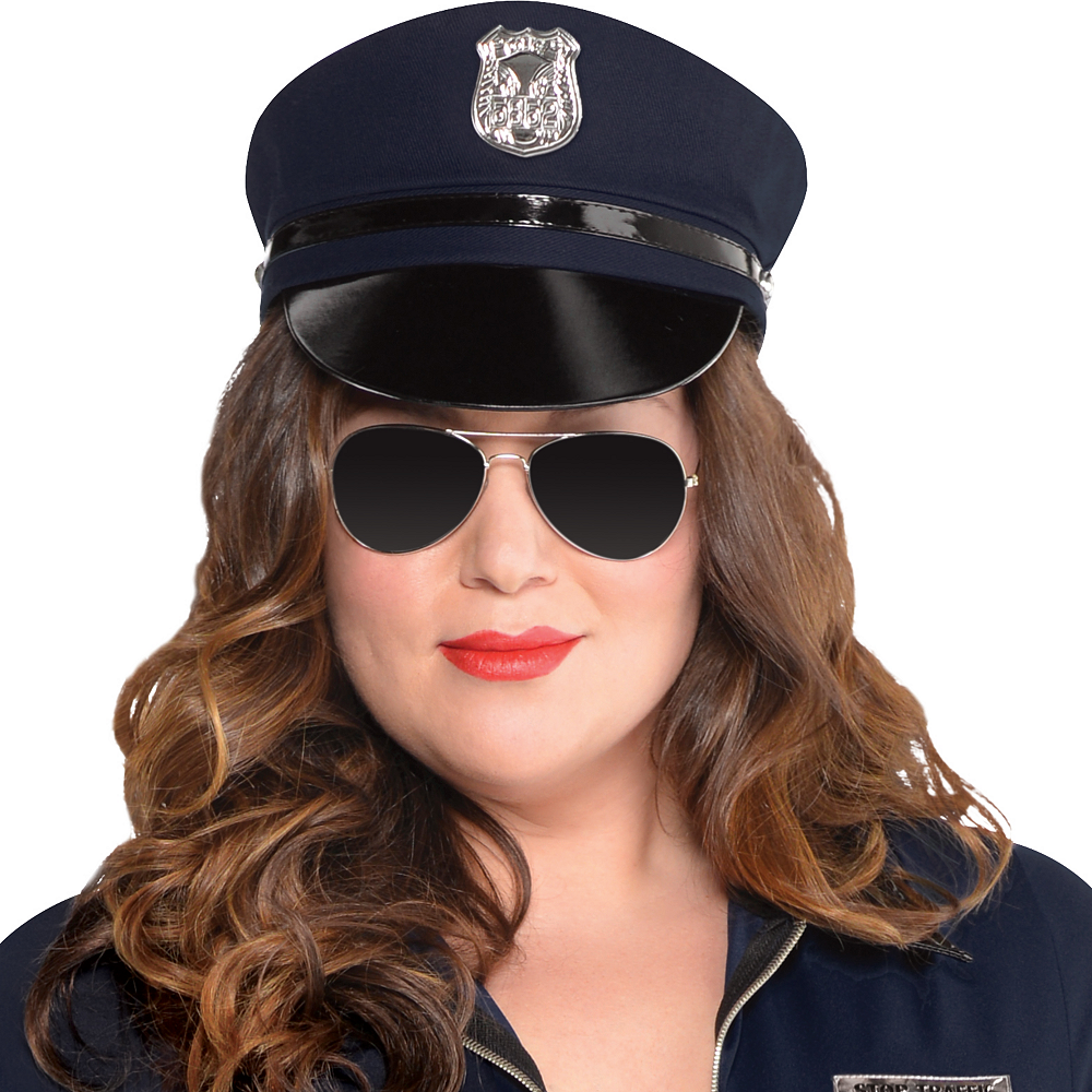 Adult Stop Traffic Sexy Cop Costume Plus Size Image #2