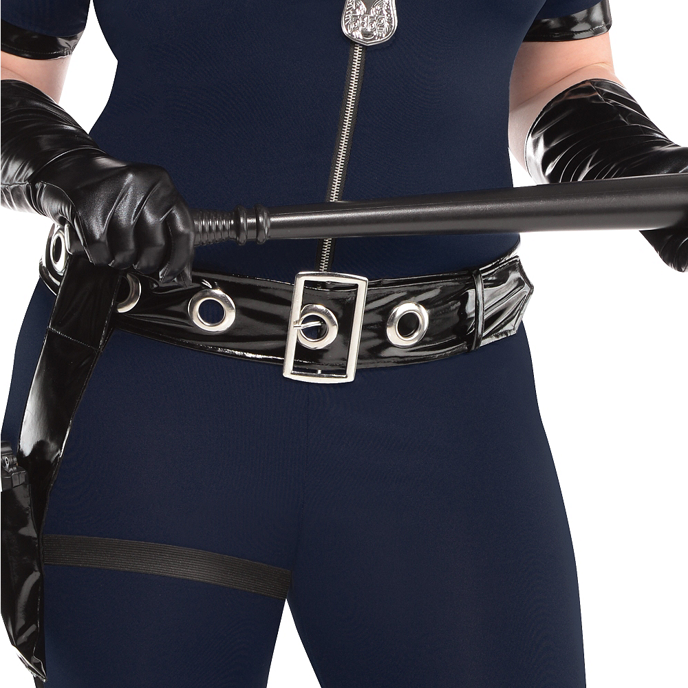 Adult Stop Traffic Sexy Cop Costume Plus Size Image #4