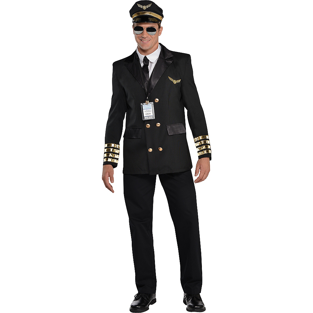 Adult Captain Wingman Pilot Costume Image #1