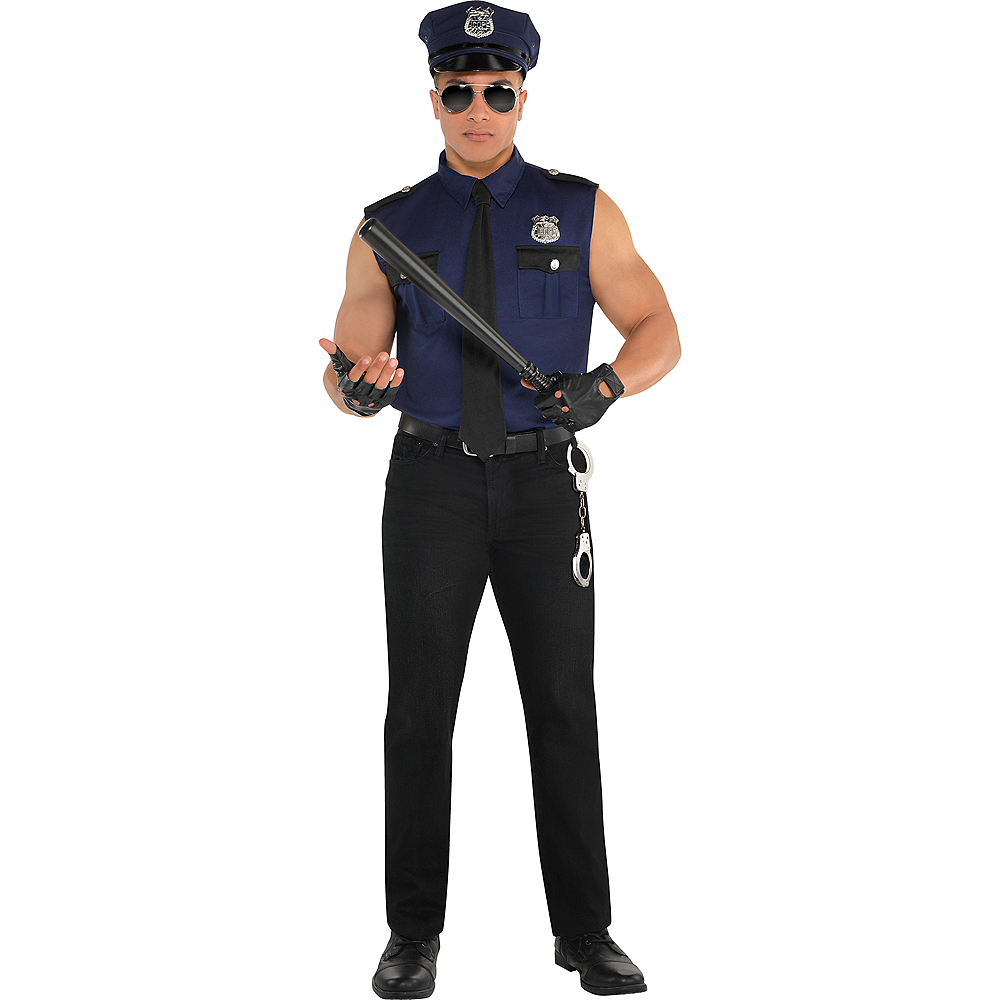 Adult Under Arrest Cop Costume Image #1
