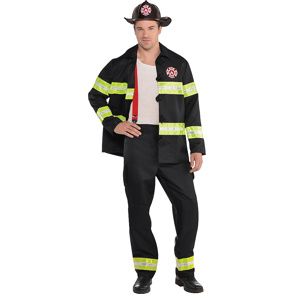 Adult Rescue Me Firefighter Costume Image #1
