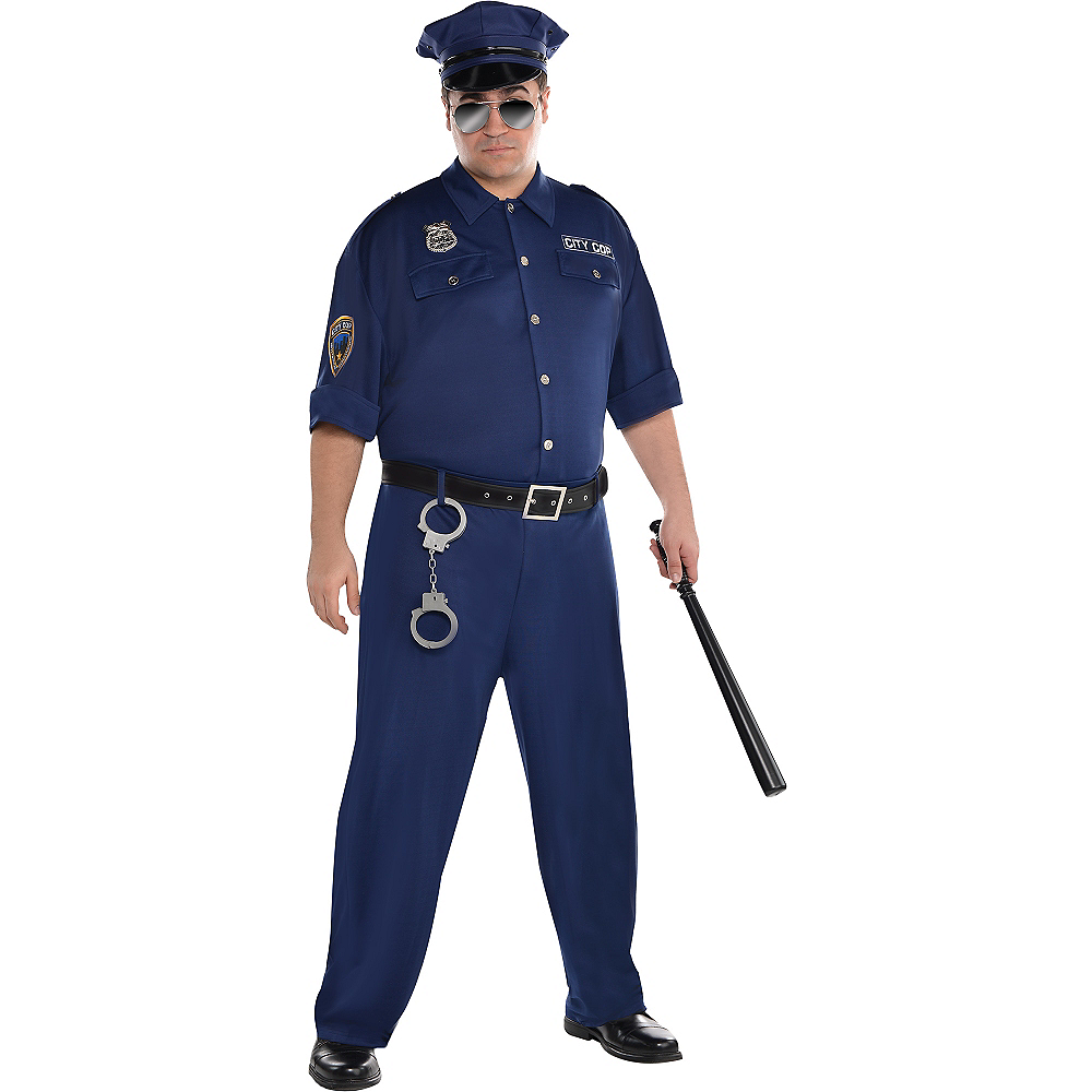 Adult On Patrol Police Costume Plus Size Image #1