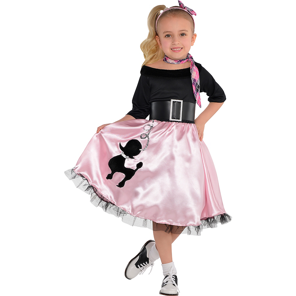 Toddler Girls Miss Sock Hop Costume Image #1