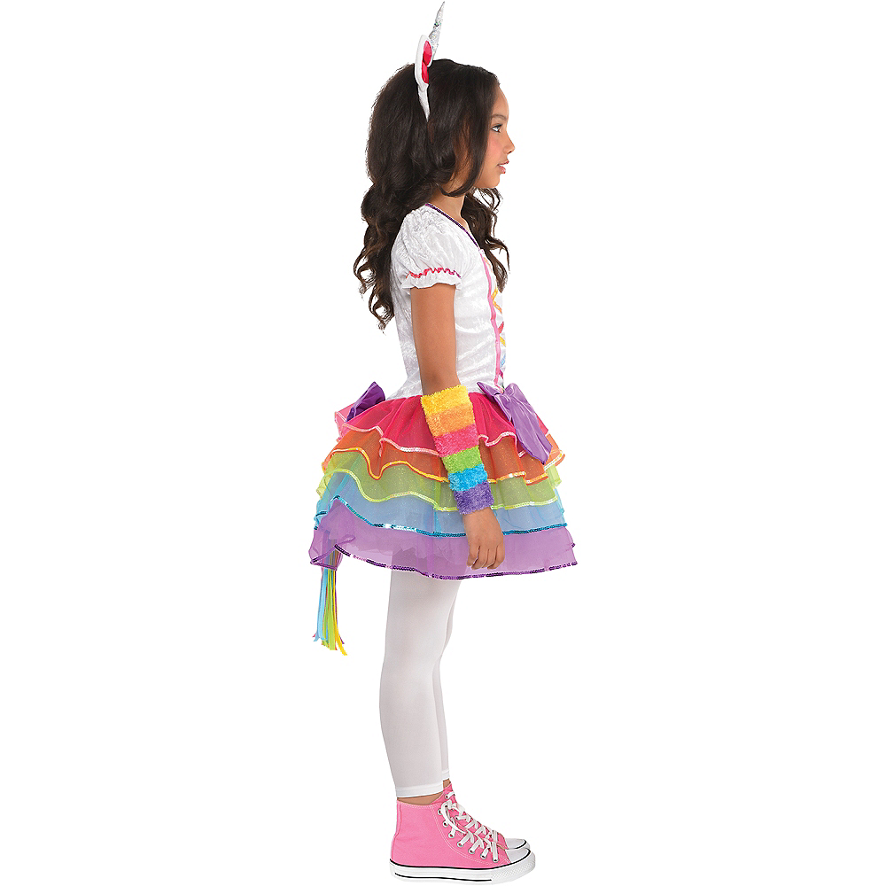 Toddler Girls Rainbow Unicorn Costume Image #2