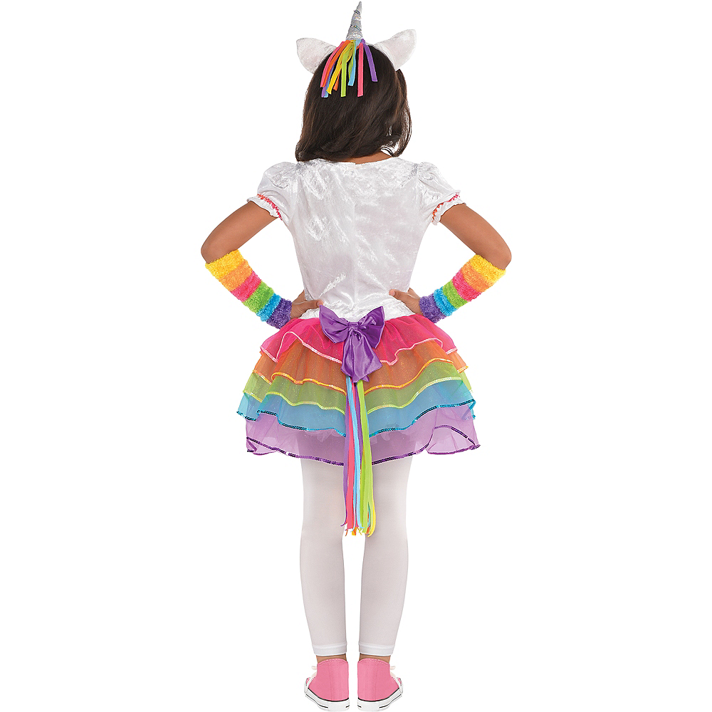 Toddler Girls Rainbow Unicorn Costume Image #3
