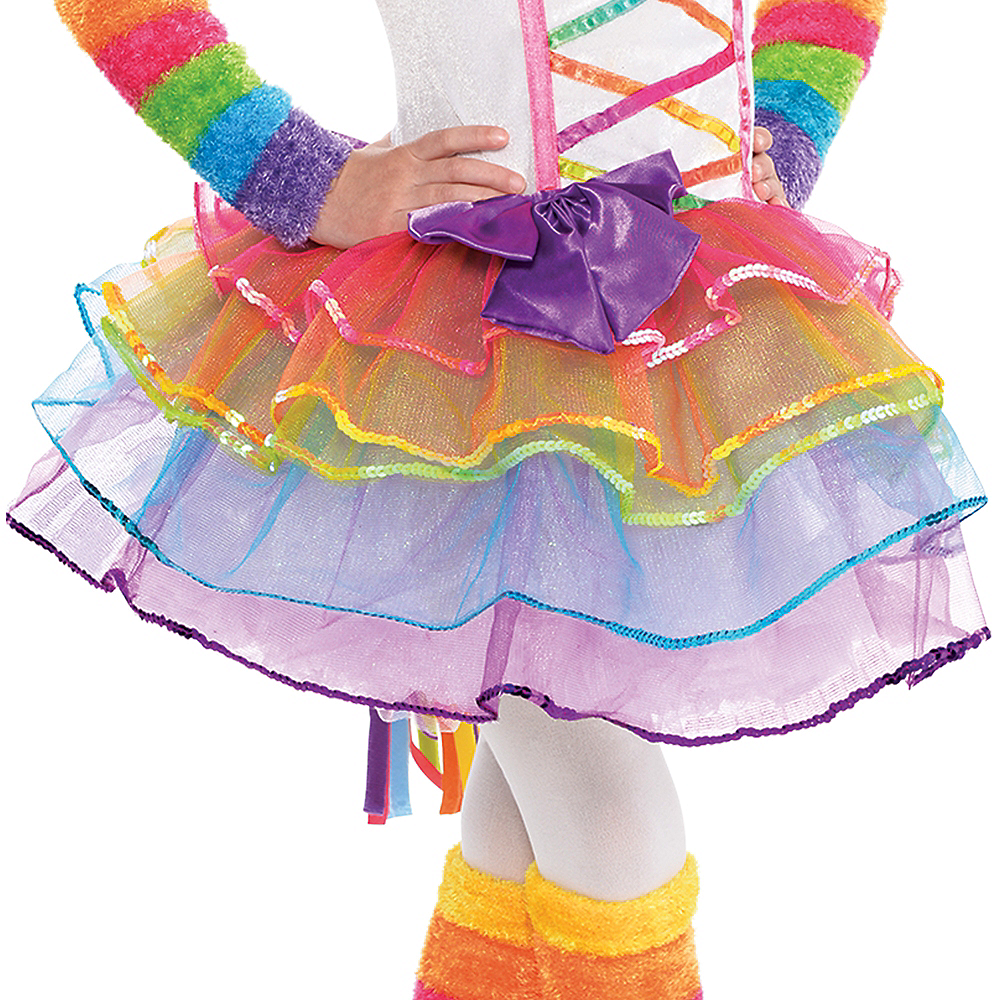 Toddler Girls Rainbow Unicorn Costume Image #4