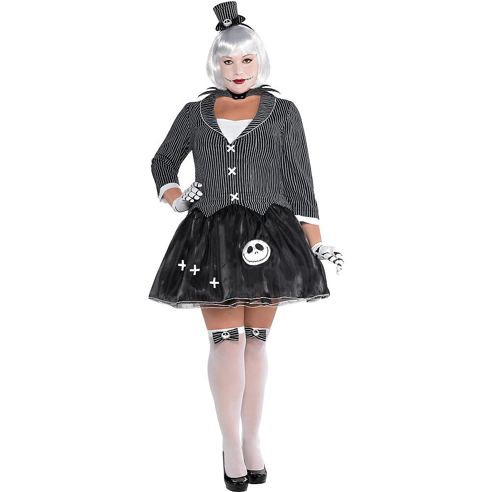 Adult Lady Jack Skellington Costume Plus Size - Nightmare Before ...