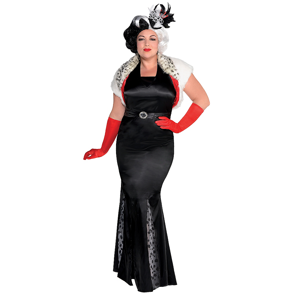 Nav Item for Adult Cruella De Vil Costume Couture Plus Size - 101 Dalmatians Image #1