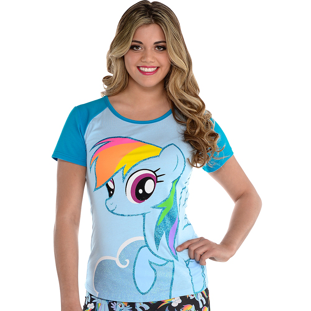2cf540b44 Nav Item for Rainbow Dash Fitted T-Shirt - My Little Pony Image #1 ...