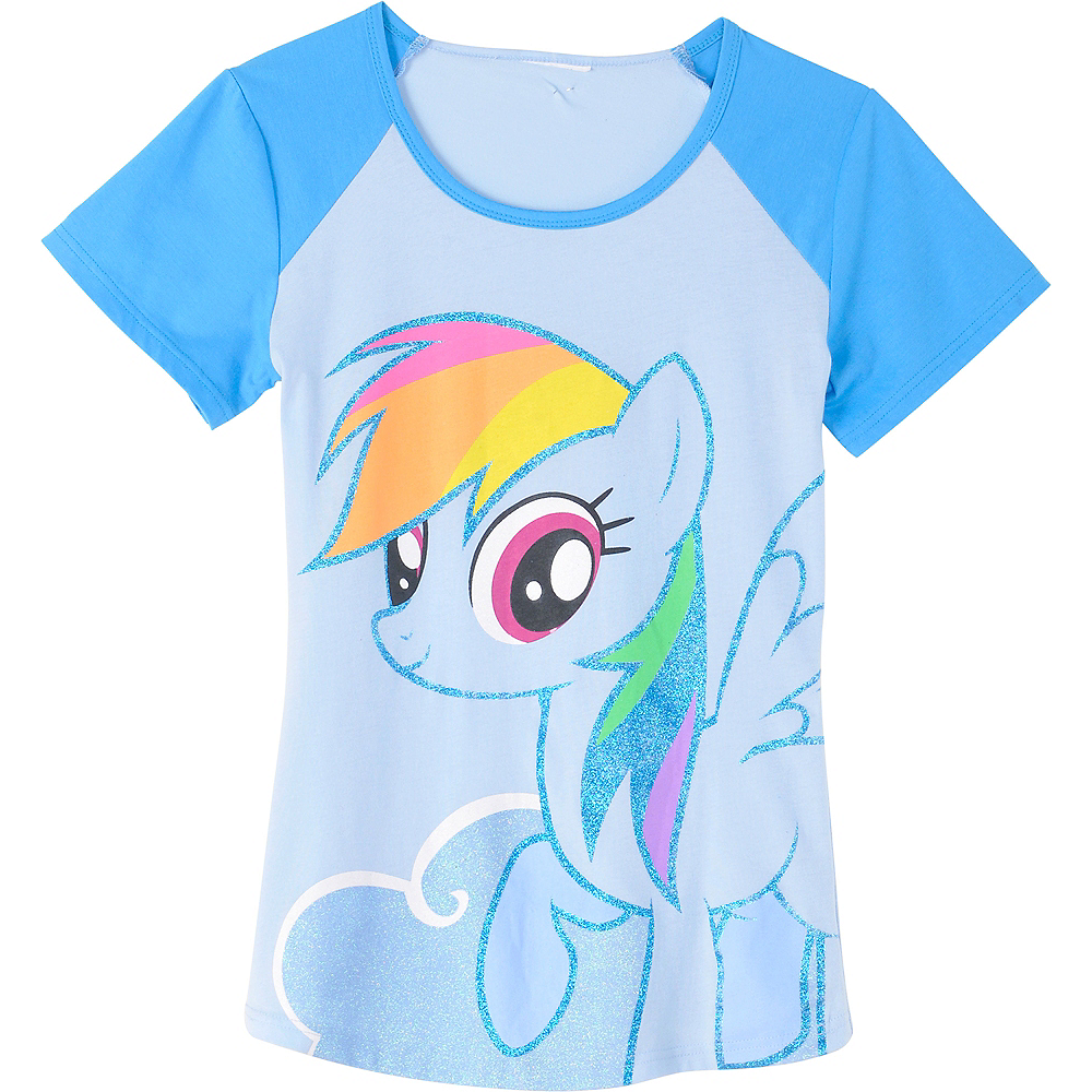 ede26d7b1 ... Nav Item for Rainbow Dash Fitted T-Shirt - My Little Pony Image #2 ...