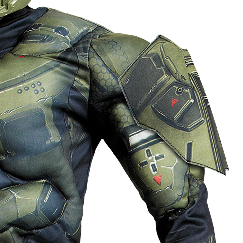 Boys Master Chief Muscle Costume Classic - Halo Image #3