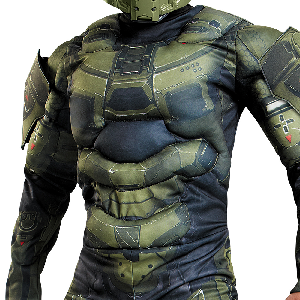 Boys Master Chief Muscle Costume Classic - Halo Image #4