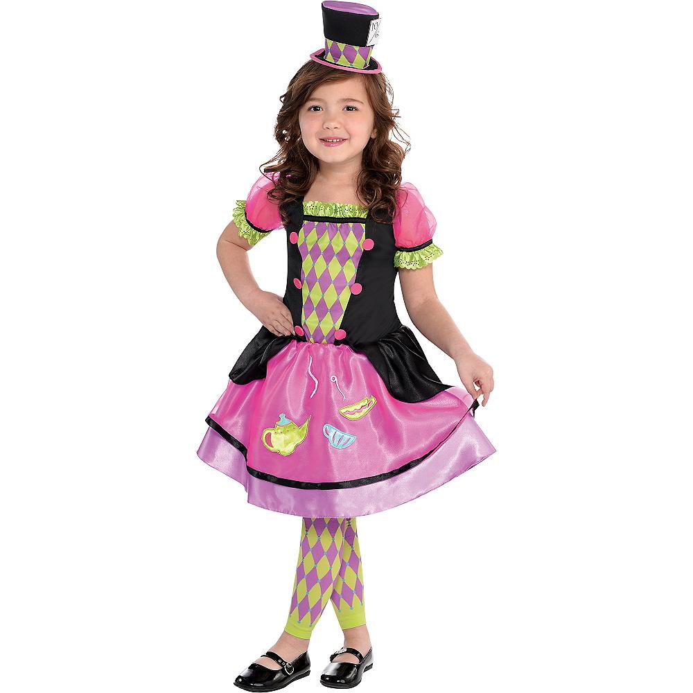 Toddler Girls Miss Mad Hatter Costume Image #1