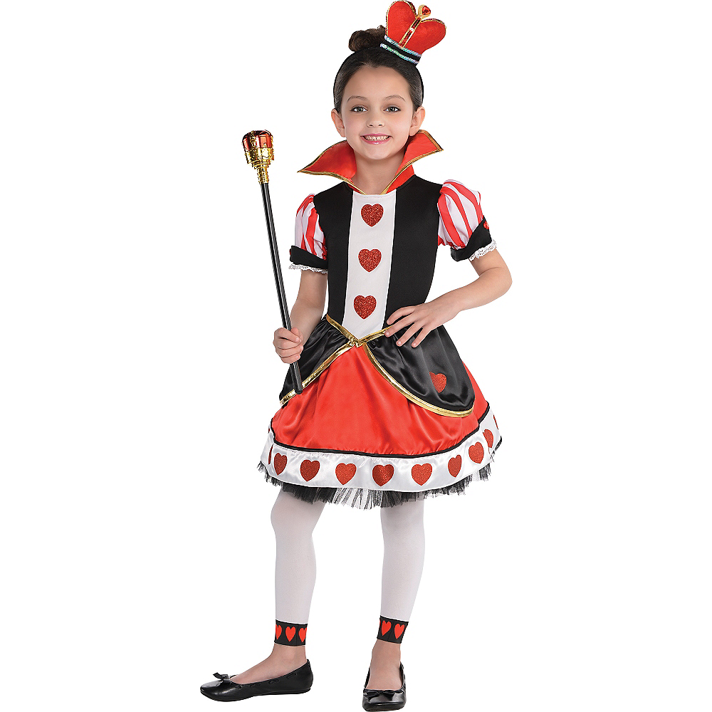 Toddler Girls Queen of Hearts Costume Image #1