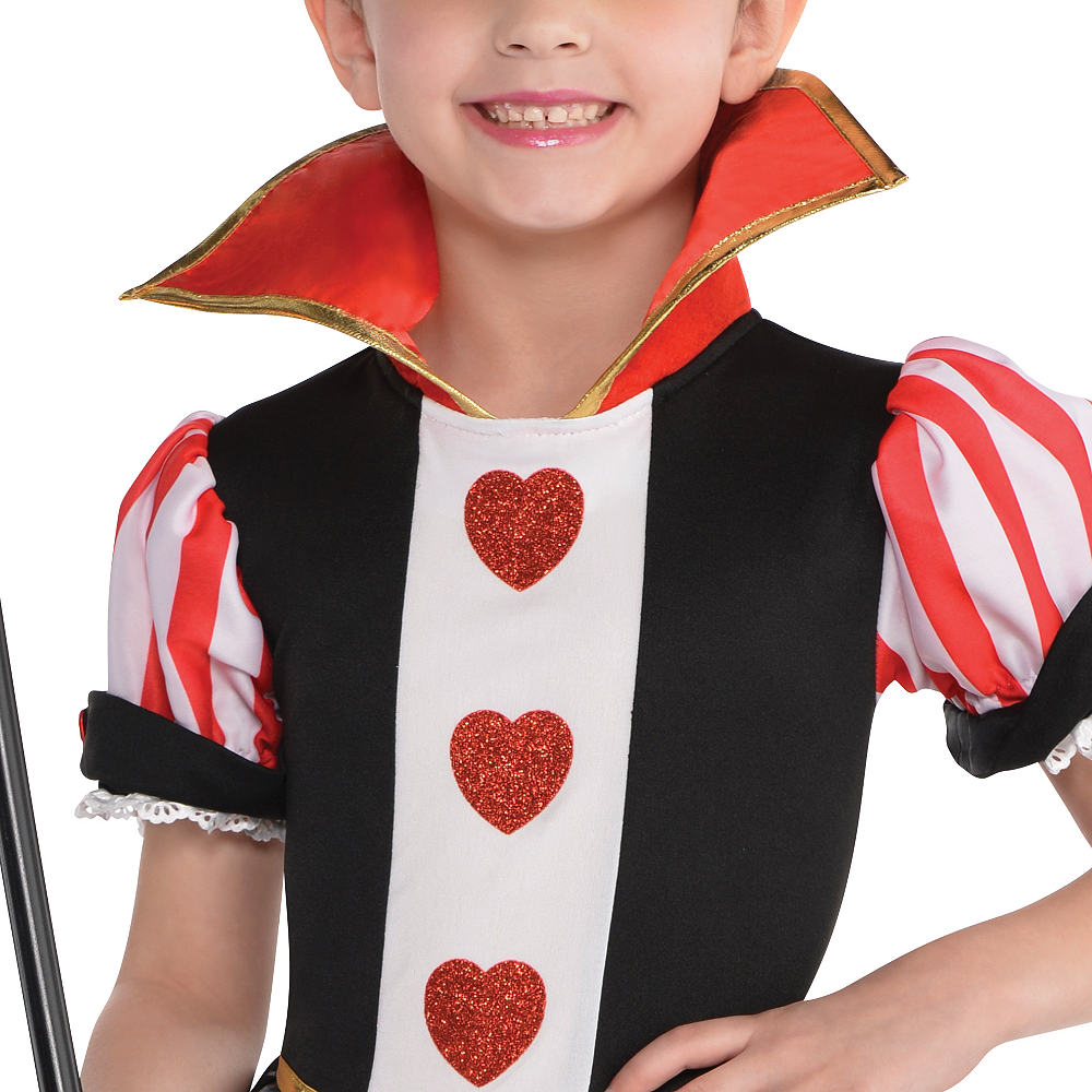 Toddler Girls Queen of Hearts Costume Image #3