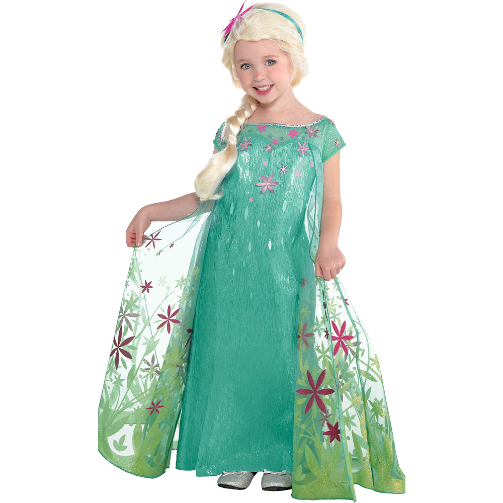girls elsa costume supreme frozen fever party city
