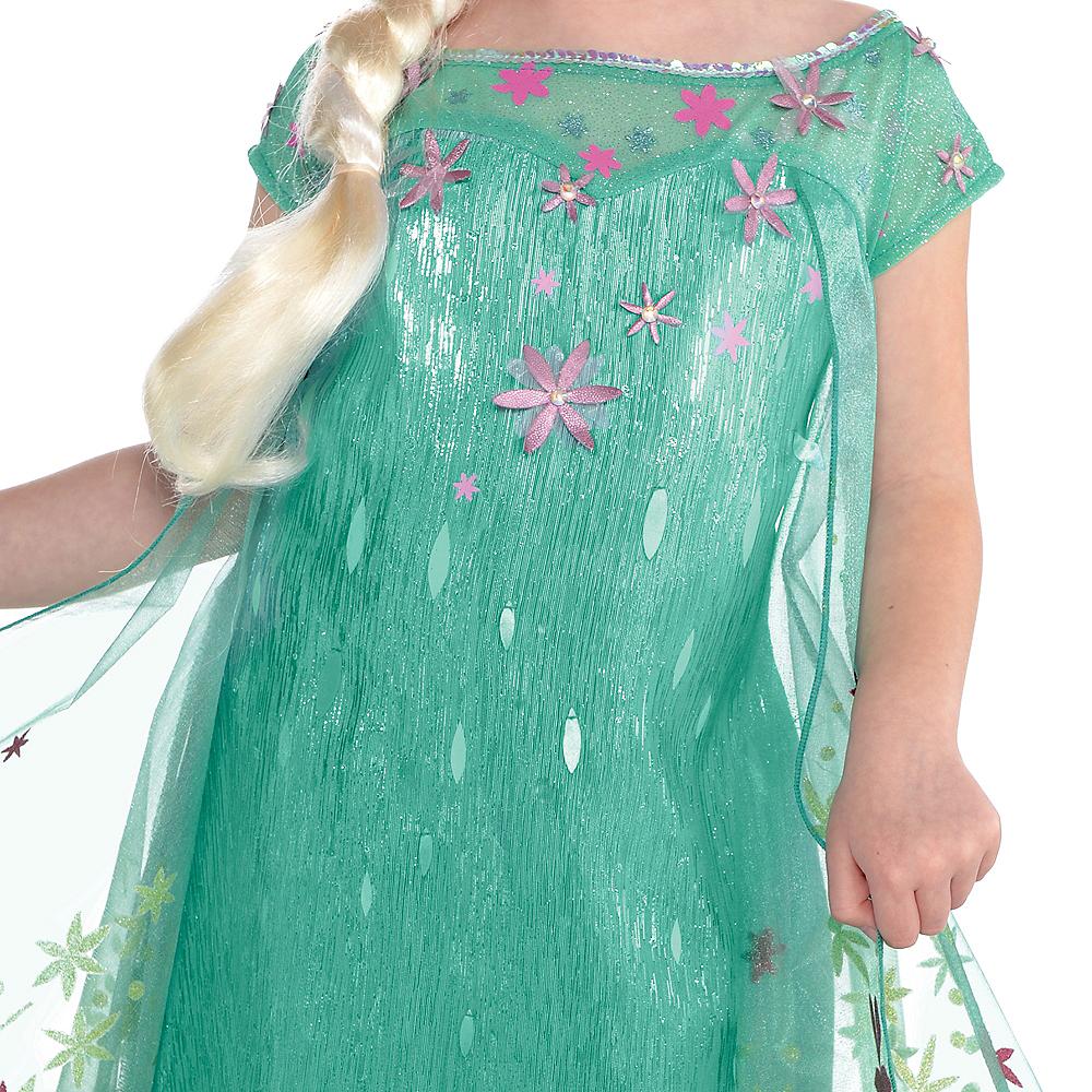 Girls Elsa Costume Supreme - Frozen Fever Image #3