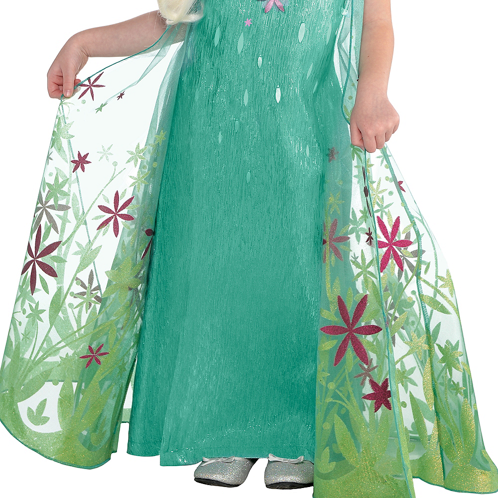 Girls Elsa Costume Supreme - Frozen Fever Image #4