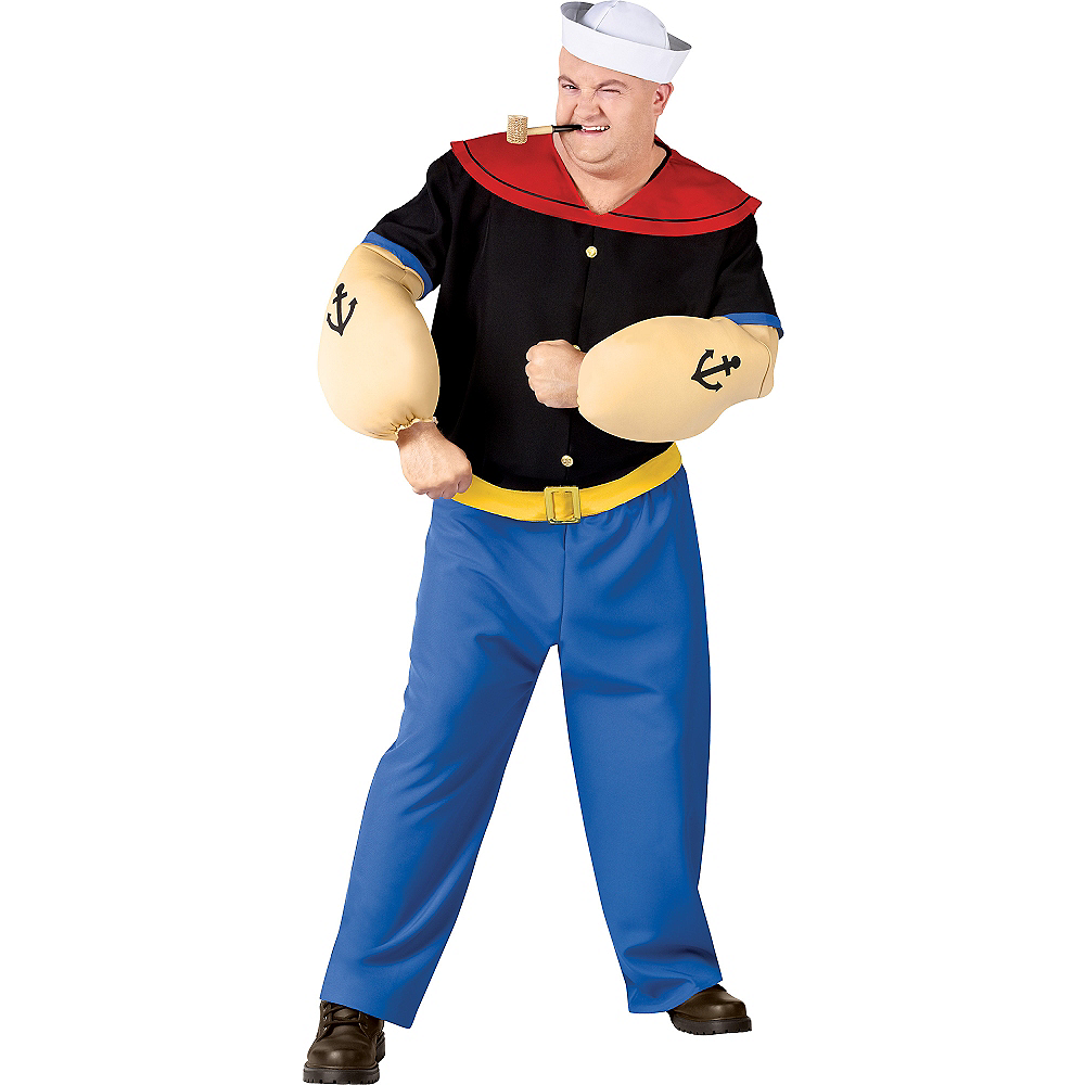Nav Item for Adult Popeye Costume Plus Size Image #1
