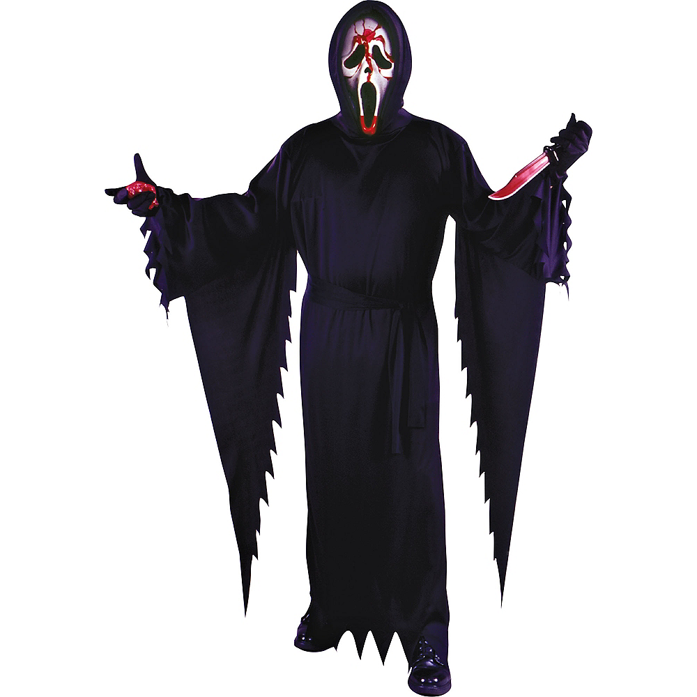 Adult Bleeding Ghost Face Costume Plus Size Image #1