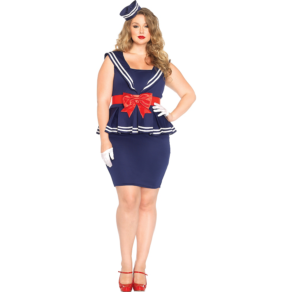 Nav Item for Adult Aye Aye Amy Sailor Costume Plus Size Image #1
