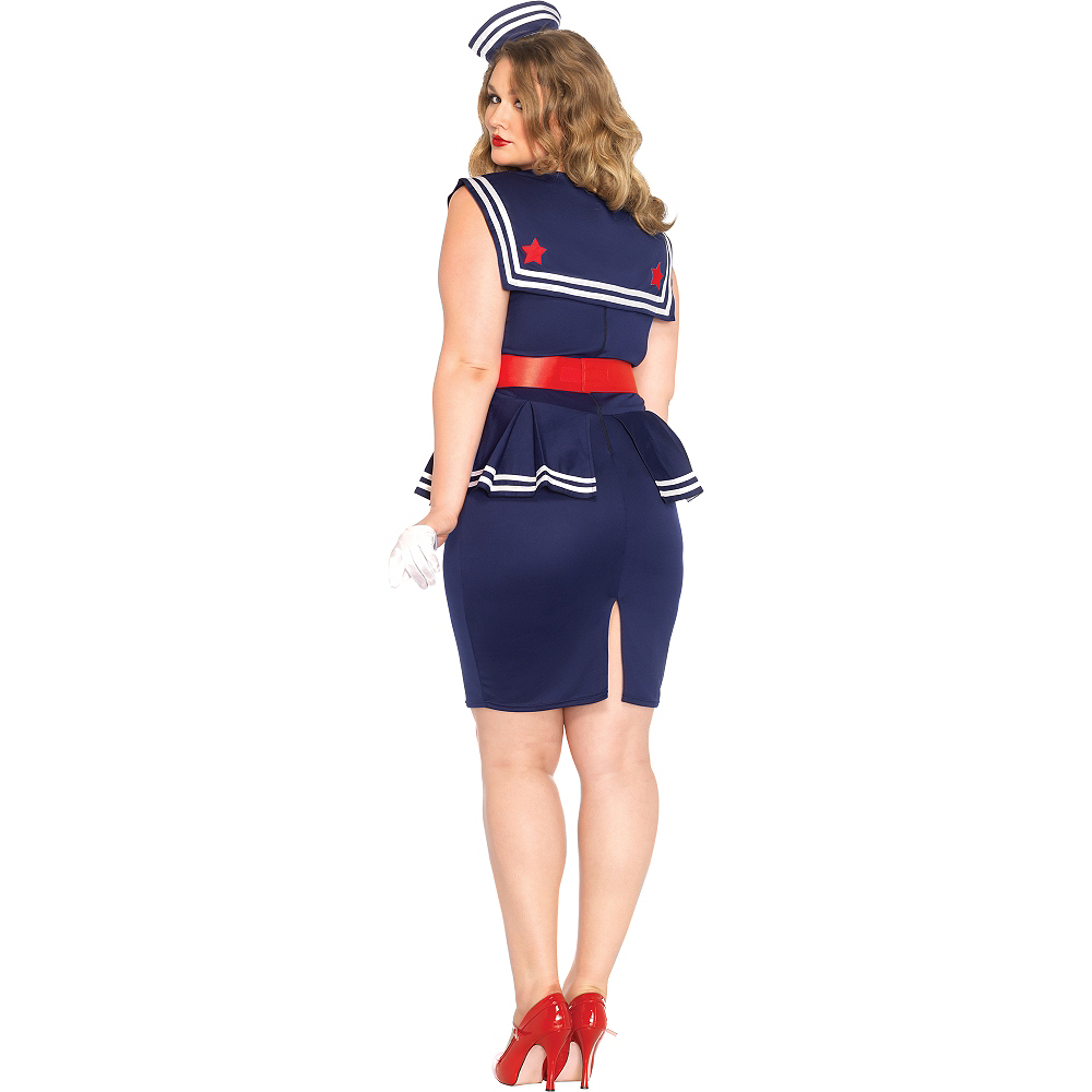 Nav Item for Adult Aye Aye Amy Sailor Costume Plus Size Image #5