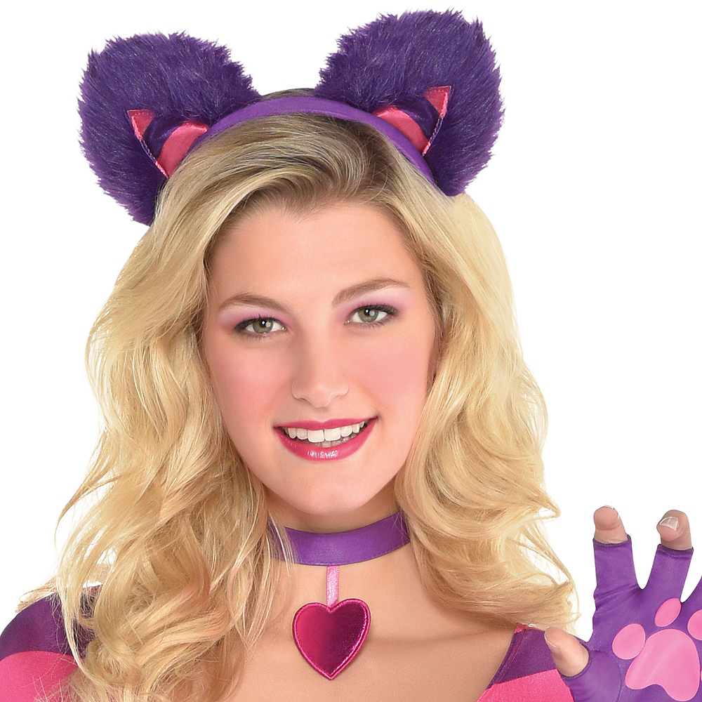 Adult Lady Cheshire Kitty Cat Costume Image #2