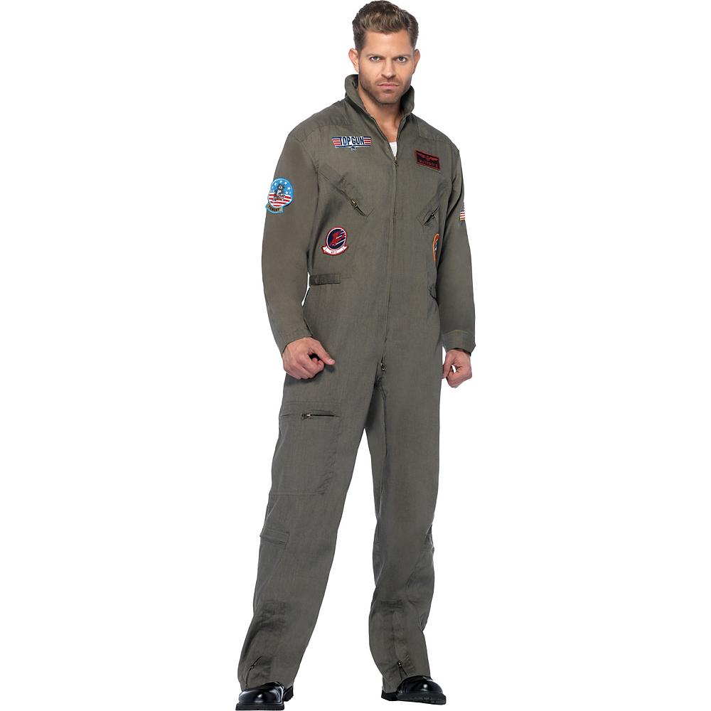 Adult Flight Suit Costume Plus Size - Top Gun Image #1