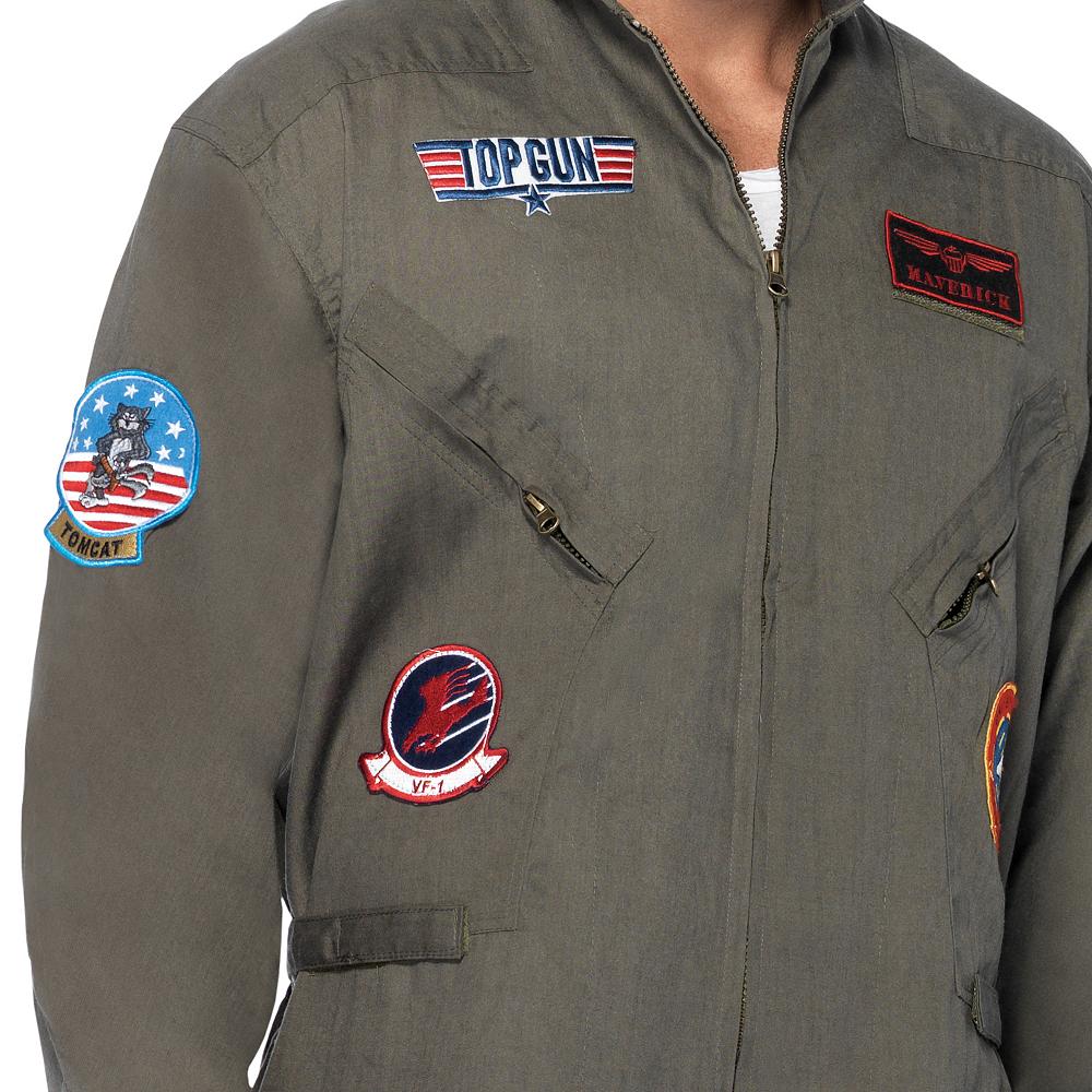 Adult Flight Suit Costume Plus Size - Top Gun Image #2