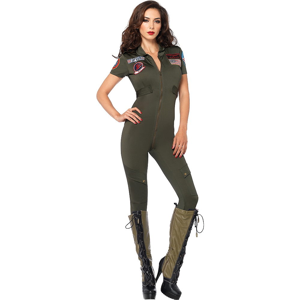 Adult Sexy Flight Suit Costume - Top Gun Image #1