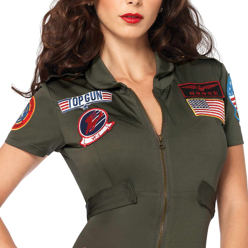 Adult Sexy Flight Suit Costume - Top Gun Image #2