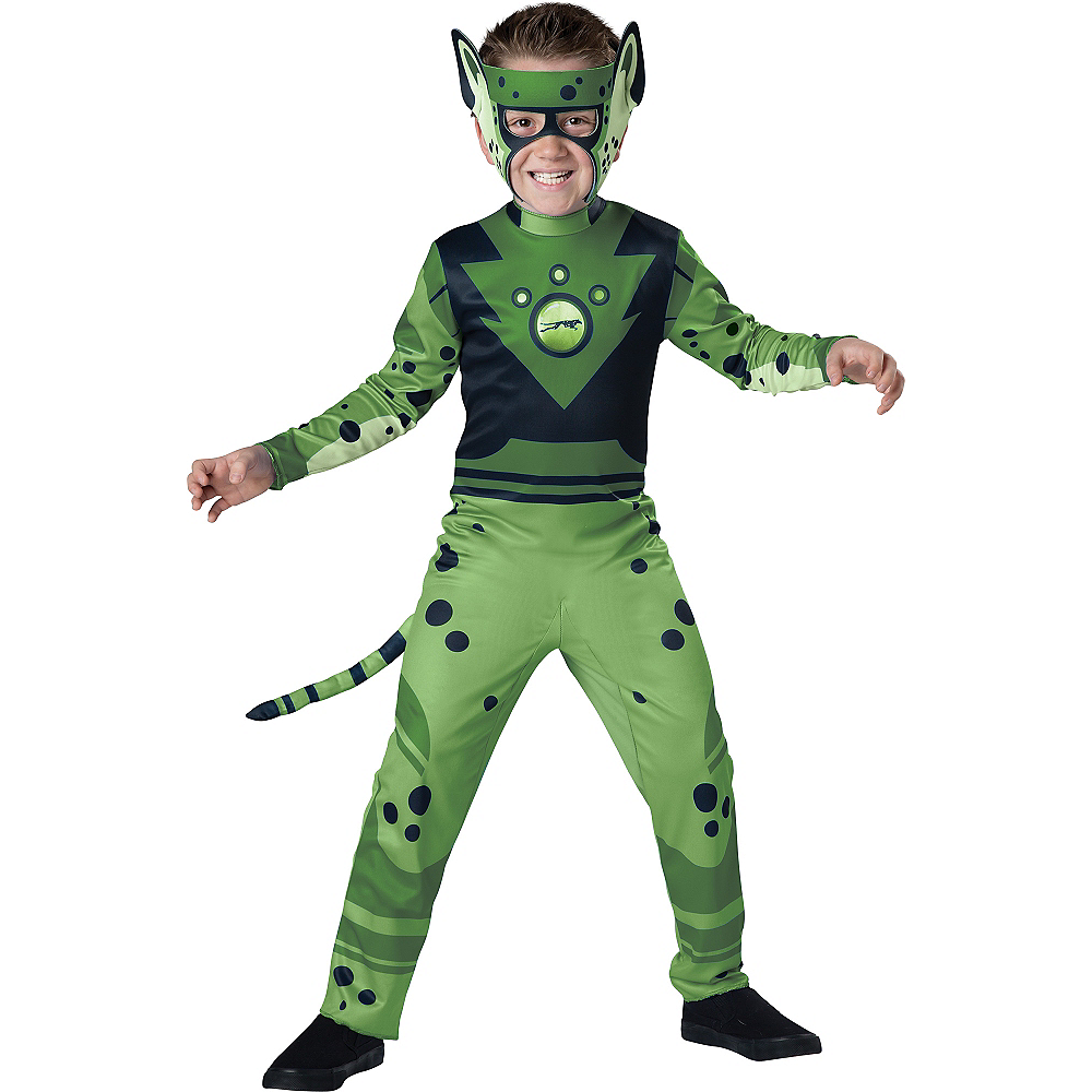 Boys Green Cheetah Muscle Costume - Wild Kratts Image #1