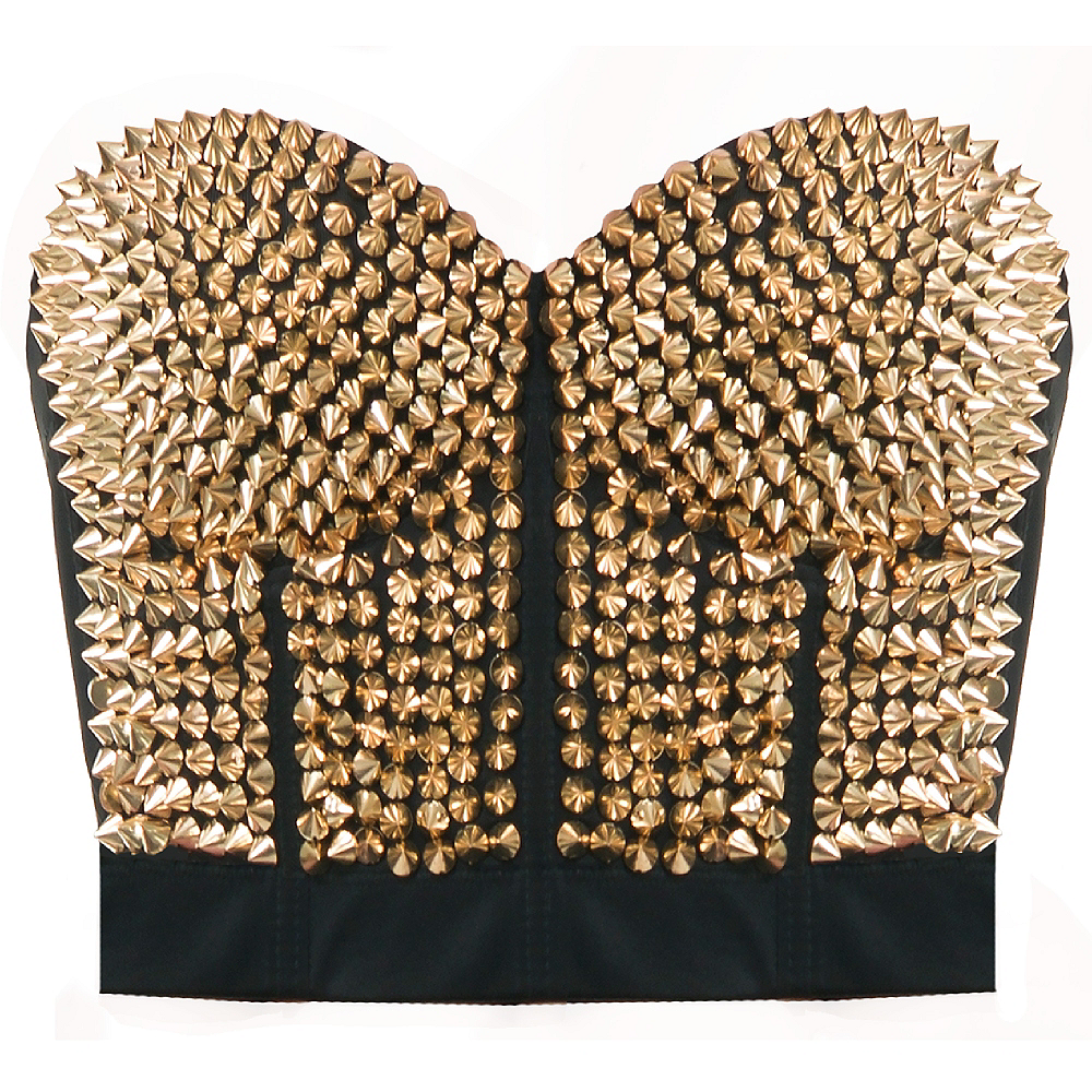 Gold Spiked Bustier Image #1