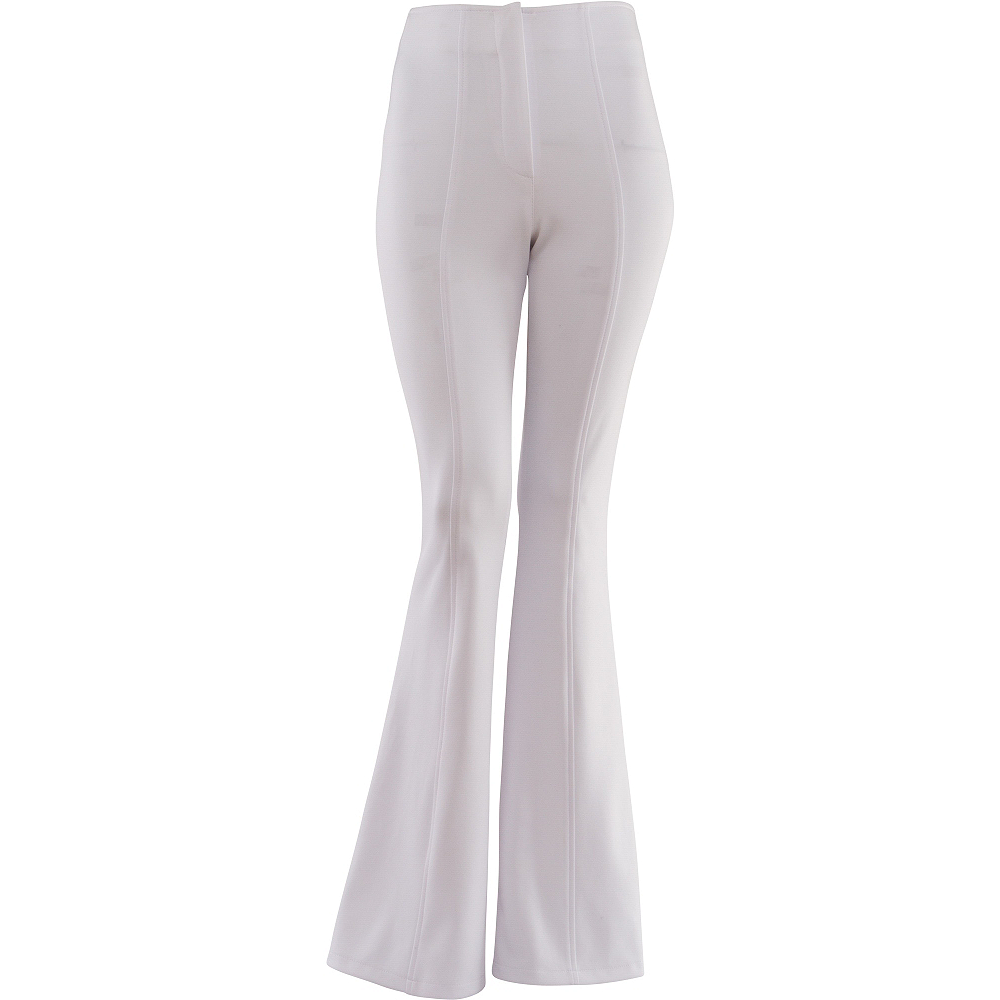 White 70s Disco Pants Image #1