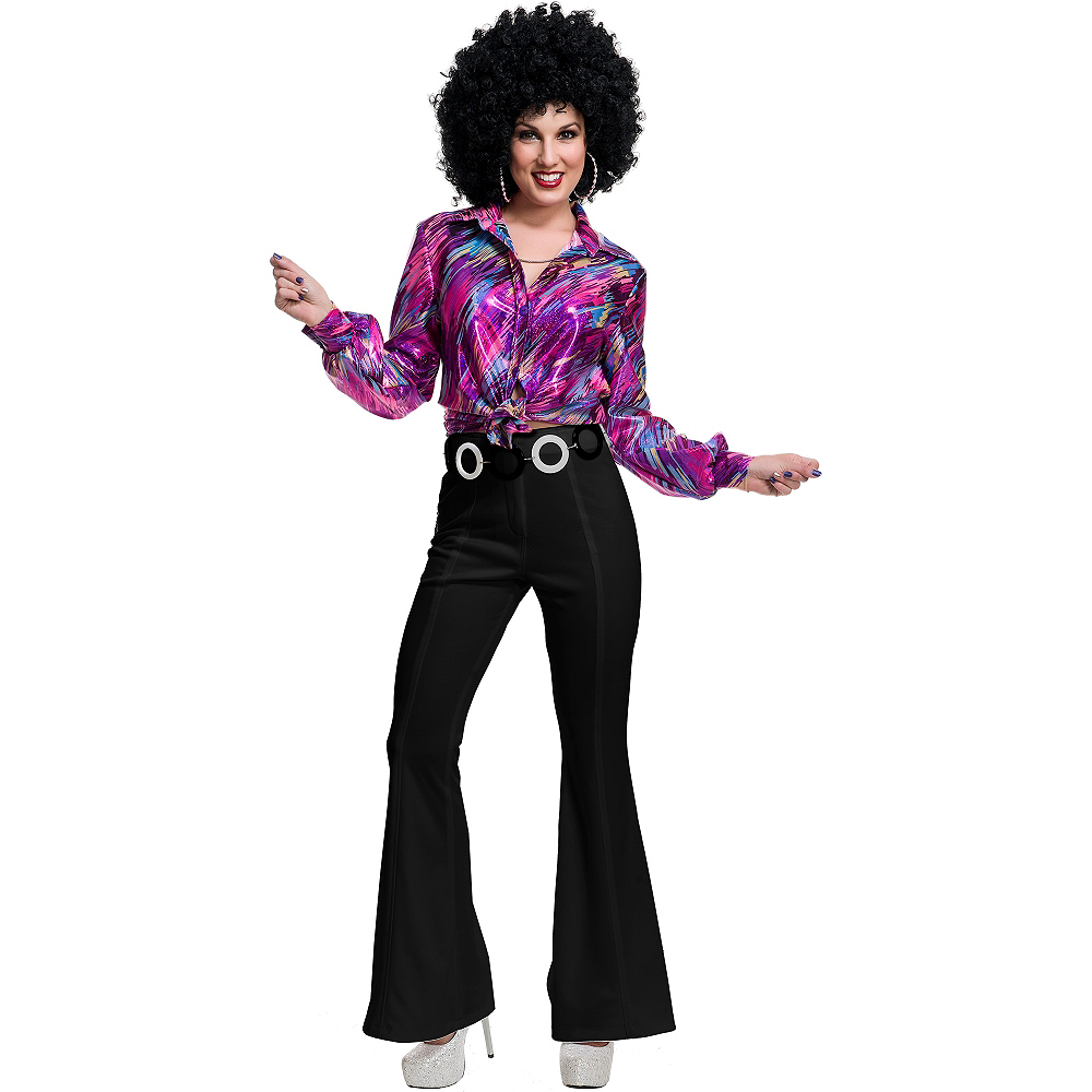 Black 70s Disco Pants Image #2