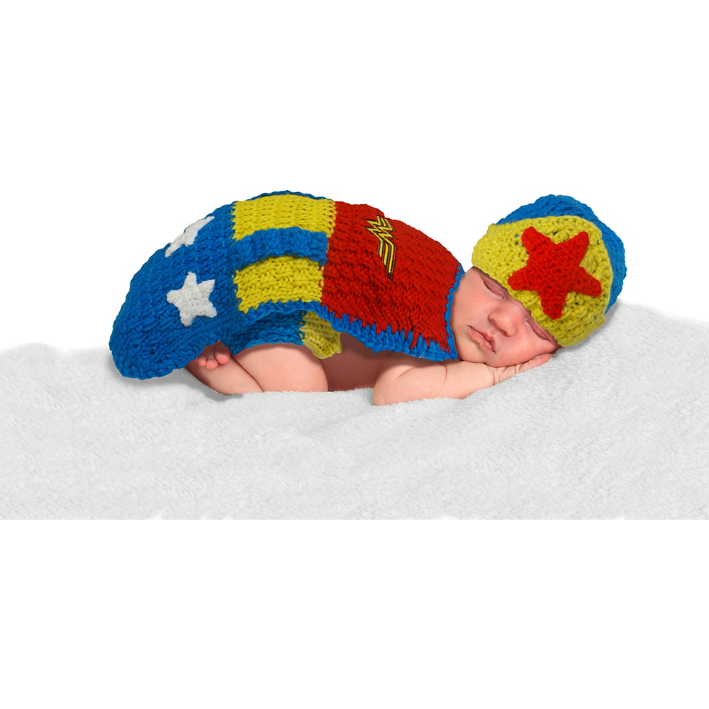 Baby Crochet Diaper Cover Wonder Woman Costume Image #1