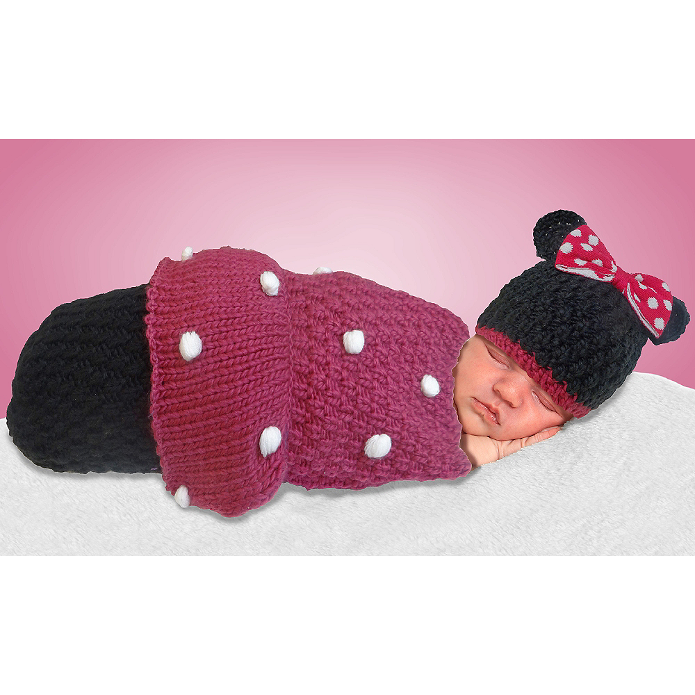 Baby Crochet Cocoon Minnie Mouse Costume Image #1