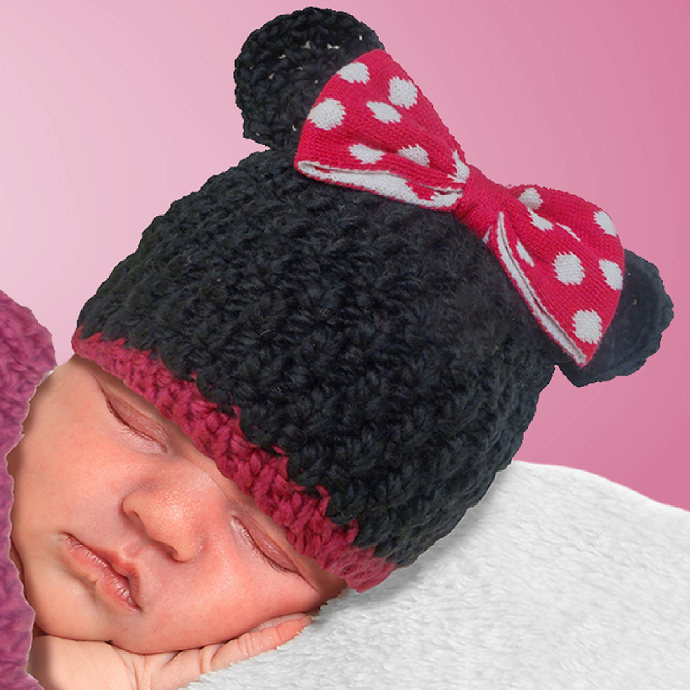 Baby Crochet Cocoon Minnie Mouse Costume Image #2